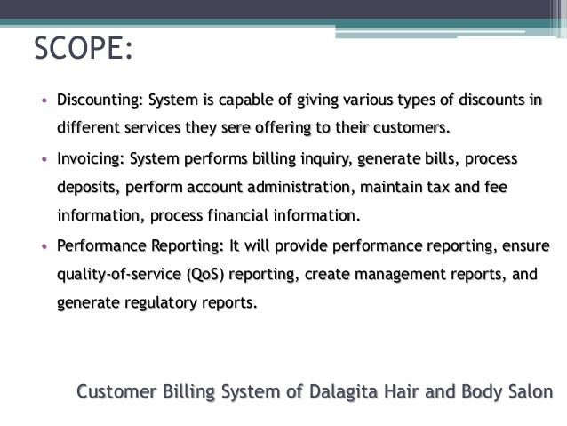 Scope and limitations of sales and inventory system