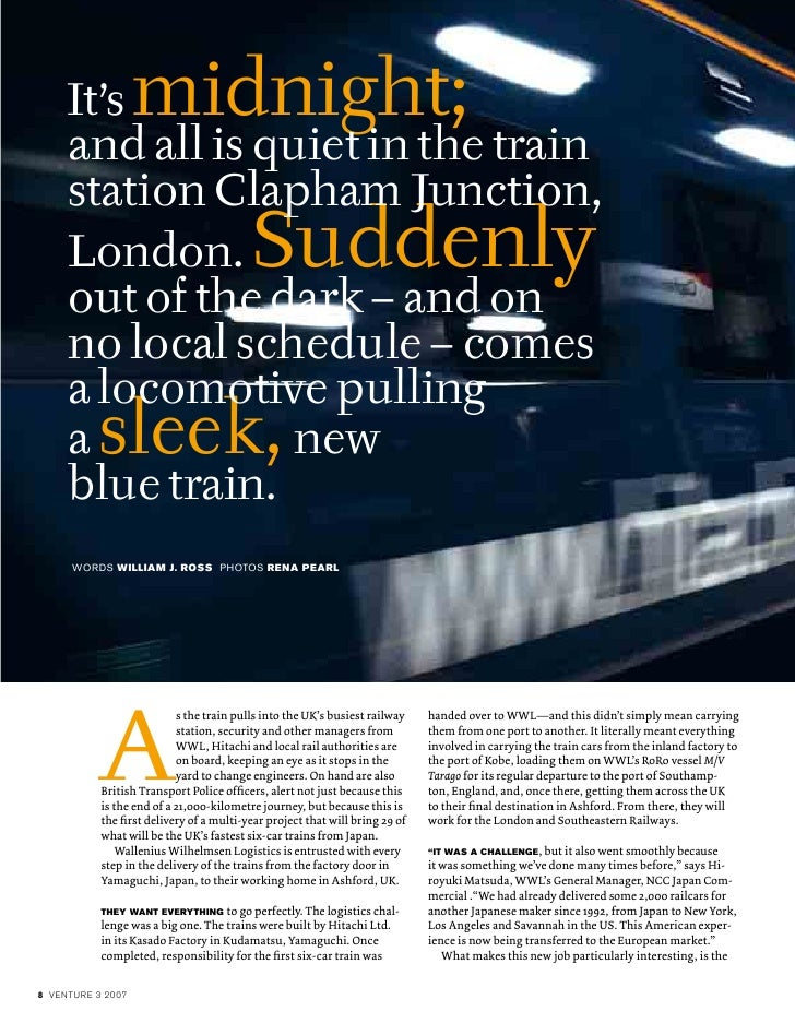 s the train pulls into the UK's busiest railway   handed over to WWL—and this didn't simply mean carrying                 ...