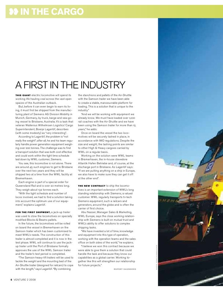 in the cArgo        AFIRSTINThEINdUSTRy    THIS GIANT     electric locomotive will spend its      the stanchions and palle...