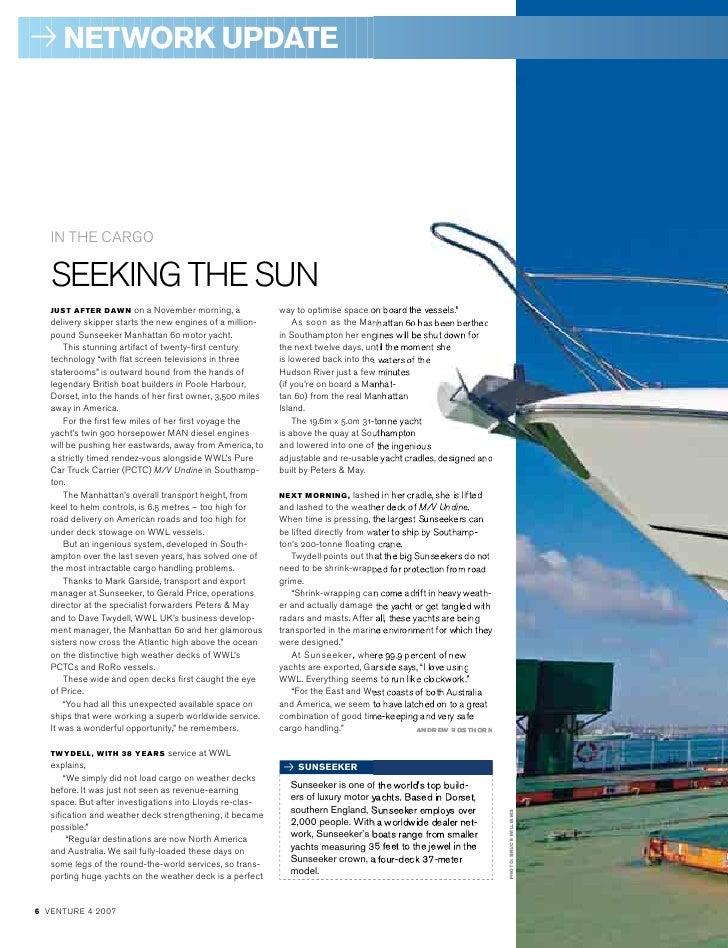 Customer Case Sunseeker Motor Yacht