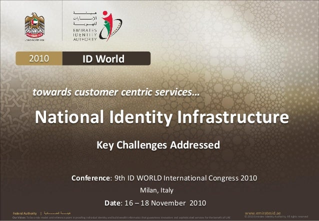 2010                                             ID World                 towards customer centric services…              ...