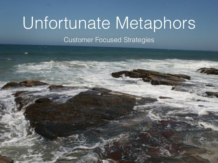 Unfortunate Metaphors     Customer Focused Strategies