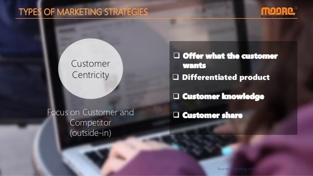 Source: marketing.wharton.upenn.edu Customer Centricity TYPES OF MARKETING STRATEGIES  Differentiated product  Offer wha...