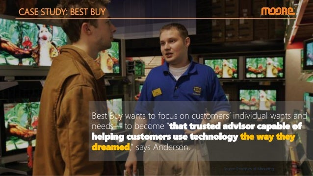 """CASE STUDY: BEST BUY Best Buy wants to focus on customers' individual wants and needs— to become """"that trusted advisor cap..."""