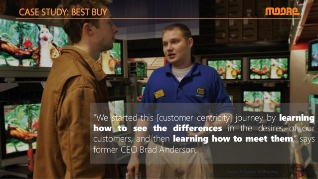 """CASE STUDY: BEST BUY """"We started this [customer-centricity] journey by learning how to see the differences in the desires ..."""