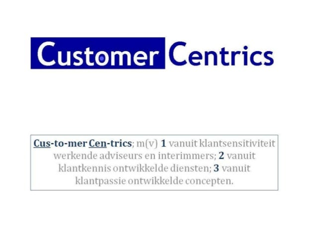 • Customer Concepts