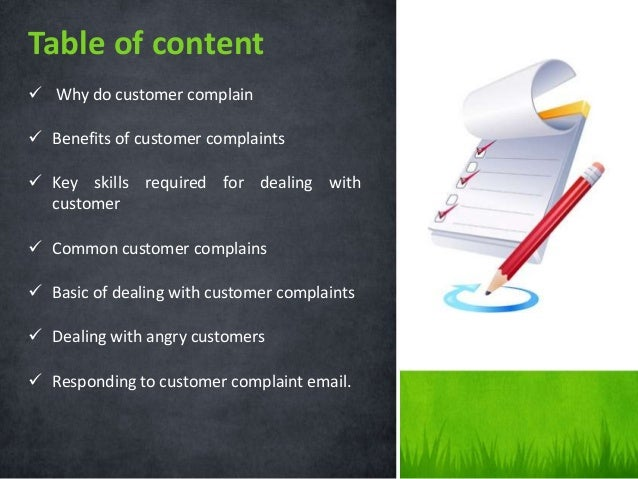  Why do customer complain  Benefits of customer complaints  Key skills required for dealing with customer  Common cust...