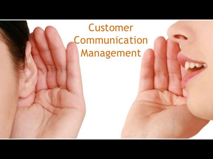 Customer Communication Management