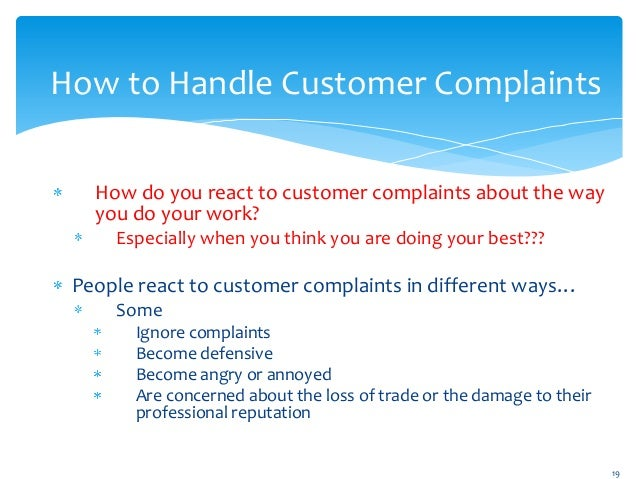work instruction for handling a complaint Purpose: this instruction revises complaint policies and procedures, and includes instructions for handling complaints received electronically from osha's public.