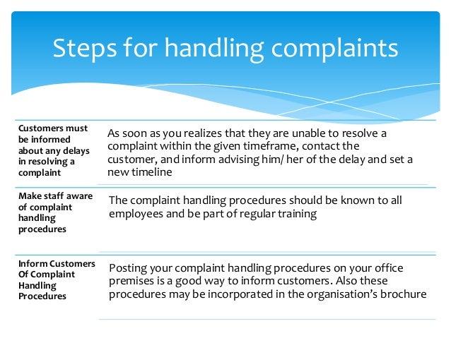 handling complaints essay