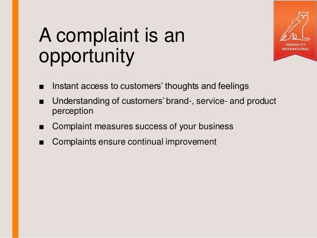 Golden Rules Of Complaints Handling