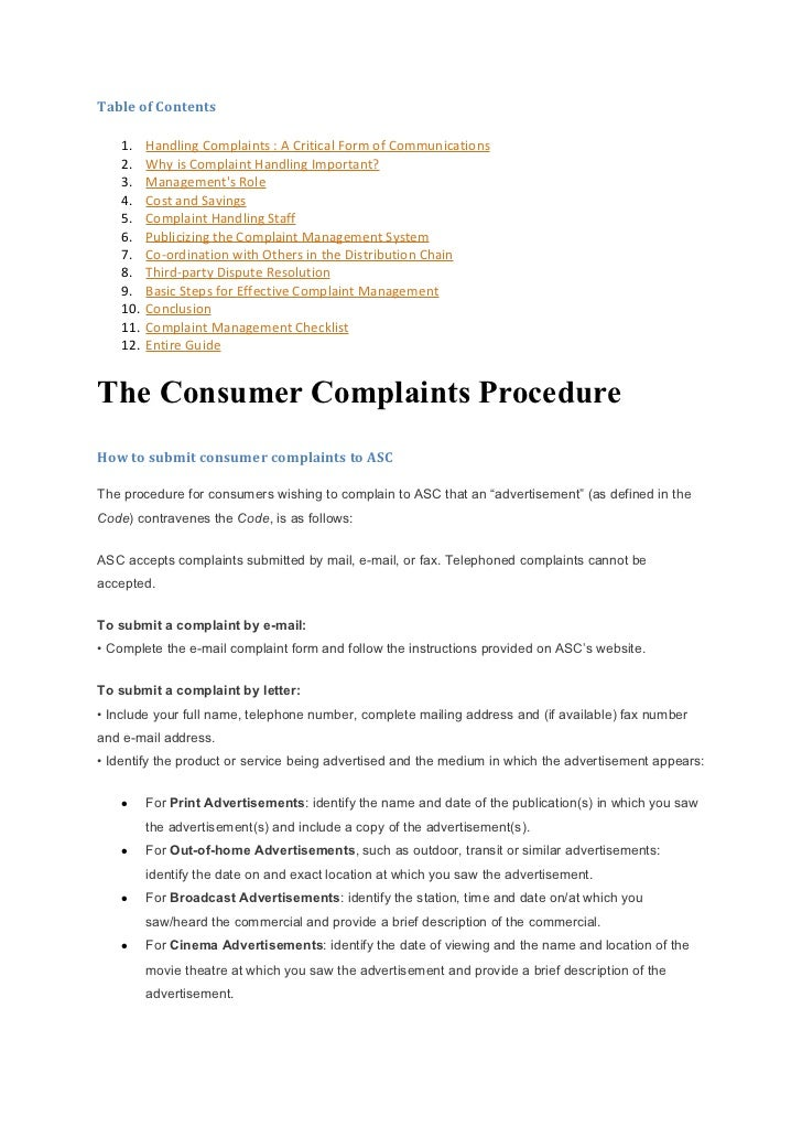 Customer Complaints Management System