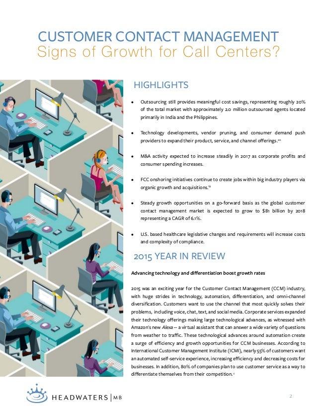 Call Center Market Report  Slide 2