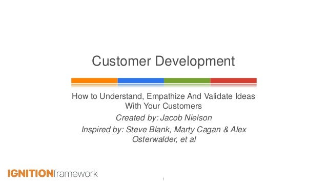 1 Customer Development How to Understand, Empathize And Validate Ideas With Your Customers Created by: Jacob Nielson Inspi...