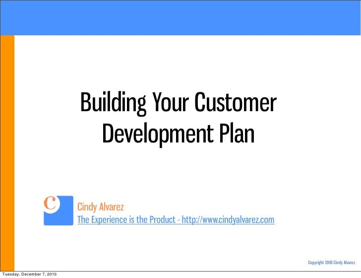 Building Your Customer Development Plan