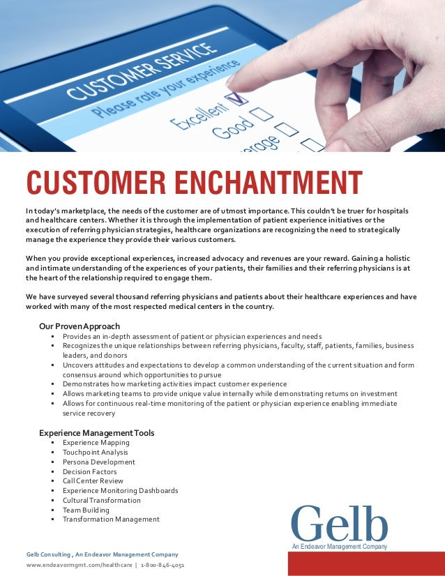 CUSTOMER ENCHANTMENT In today's marketplace, the needs of the customer are of utmost importance.This couldn't be truer for...