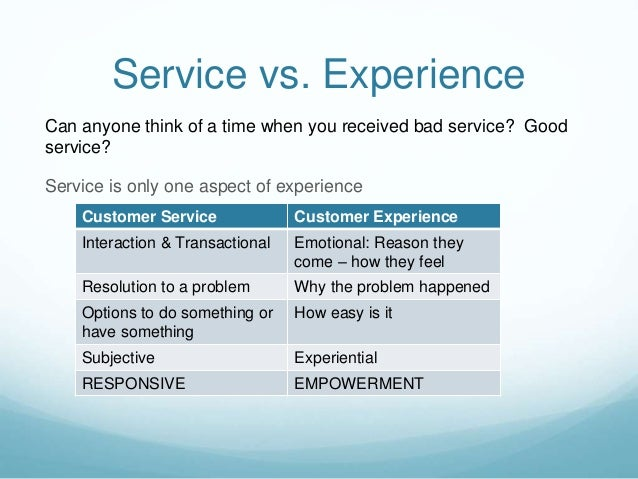 Customer Experience: Moving Beyond Service