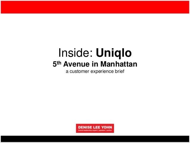 Inside: Uniqlo 5th Avenue in Manhattan a customer experience brief