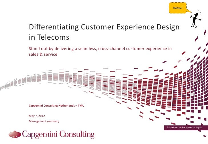 Cross channel customer experience design in telecommunications for Household experience design