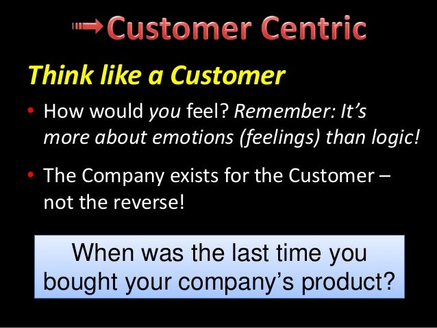 • Present a single face to your Customers – not sales, Customer service accounts, etc. – just your Company • Work in diffe...