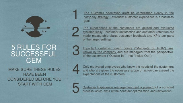 """4 SURPRISE AND ENTHUSIASM OF CUSTOMERS From the """"NOW Brand"""" to the """"WOW Brand"""" THE TARGETS AND BENEFITS OF CEM INCREASE OF..."""
