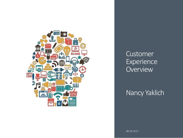 Customer Experience Overview Nancy Yaklich 08.28.2015