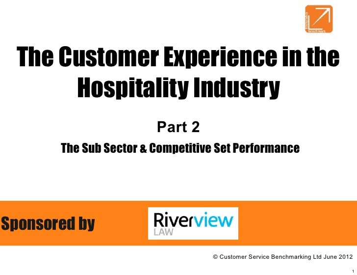 The Customer Experience in the      Hospitality Industry                        Part 2       The Sub Sector & Competitive ...