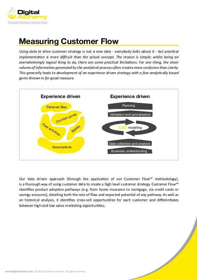 www.digitalalchemy.asia © Digital Alchemy Limited. All rights reserved. Measuring Customer Flow Using data to drive custom...
