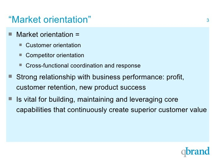 """market orientation Marketing can be define as """"the process of creating, distributing, promotion and pricing goods, services and ideas to facilitate satisfying exchange relationships."""