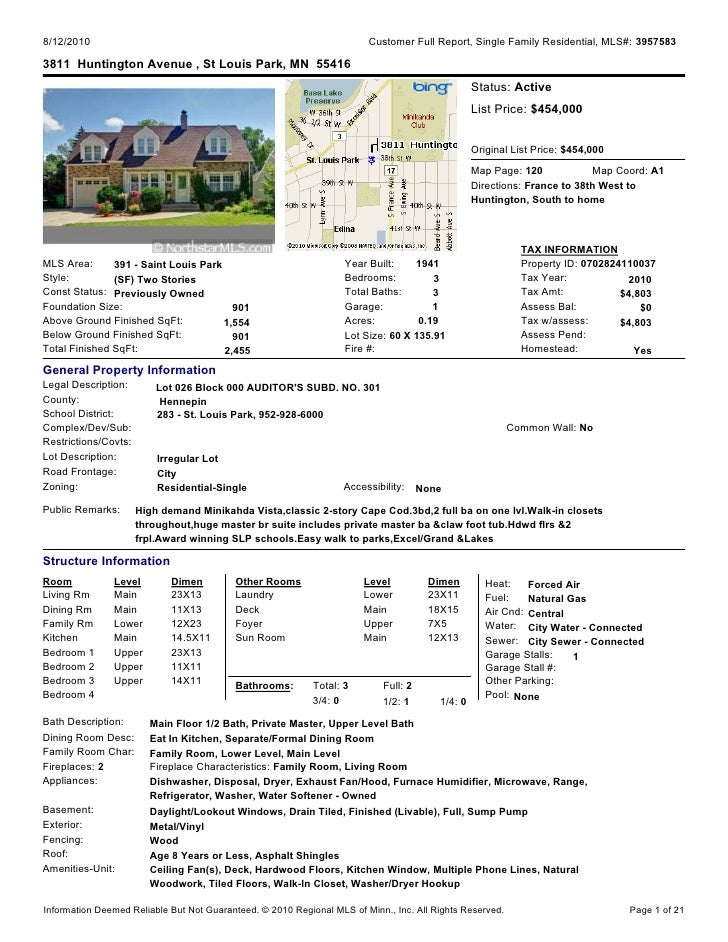 8/12/2010                                                               Customer Full Report, Single Family Residential, M...