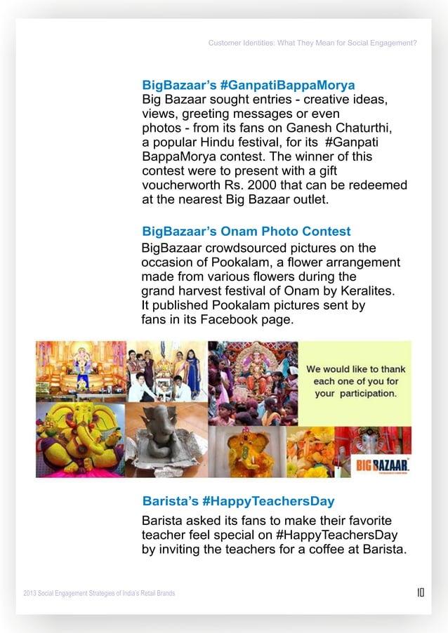 BigBazaar's #GanpatiBappaMorya  Big Bazaar sought entries - creative ideas,  views,  greeting messages or even  photos - f...