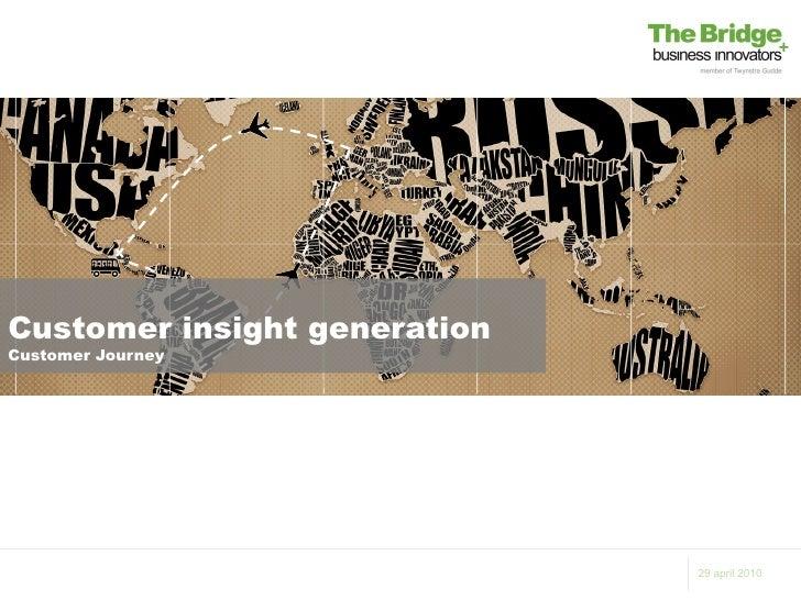 Customer insight generationCustomer Journey                              29 april 2010