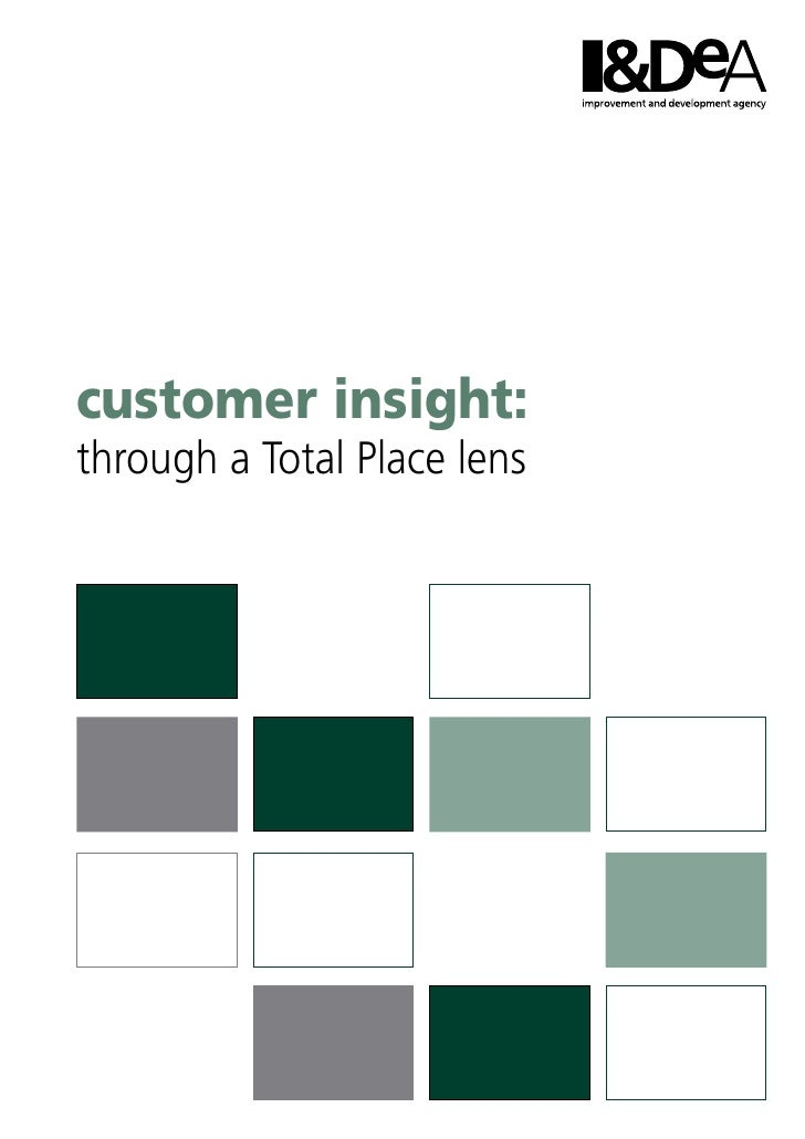 customer insight:  through a Total Place lens