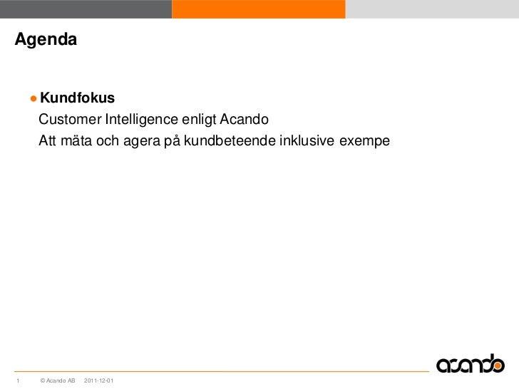 Customer intelligence Slide 2