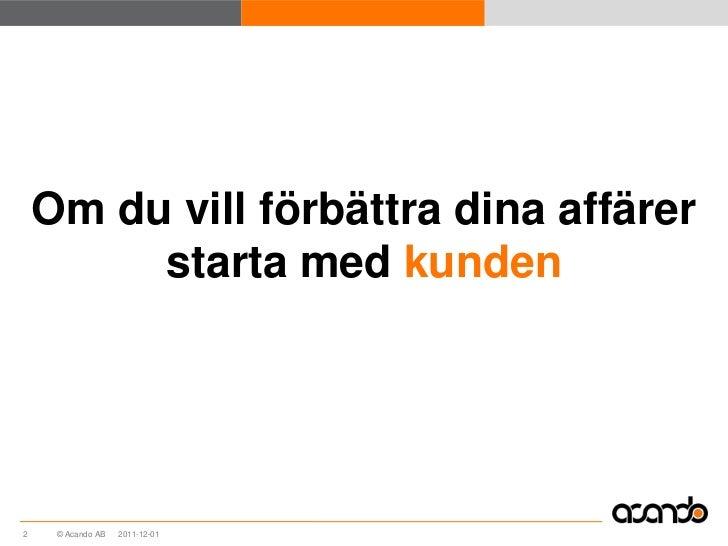 Customer intelligence Slide 3