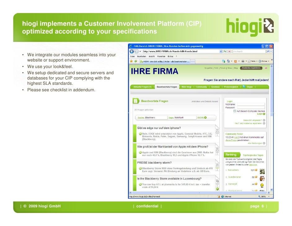 Customer Involvement Platform By Hiogi 20090421