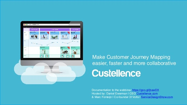 © Custellence 2017 Utbildning Make Customer Journey Mapping easier, faster and more collaborative Documentation to the web...
