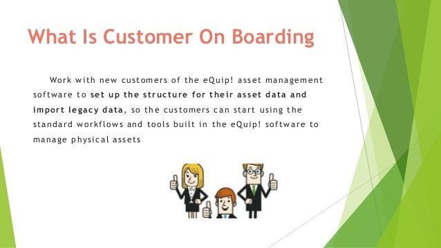Structured and Staged process for migrating to eQuip! Asset Management tool Slide 2