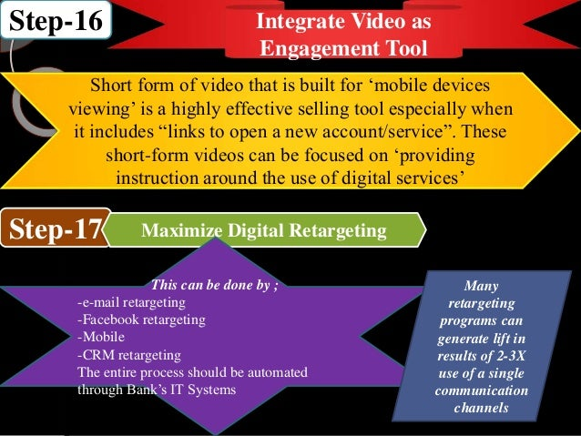 Step-16 Integrate Video as Engagement Tool Short form of video that is built for 'mobile devices viewing' is a highly effe...
