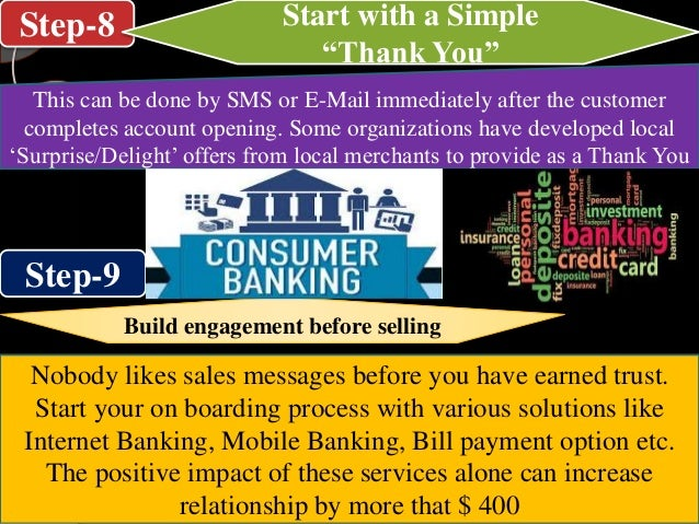 """Step-8 Step-9 Start with a Simple """"Thank You"""" This can be done by SMS or E-Mail immediately after the customer completes a..."""