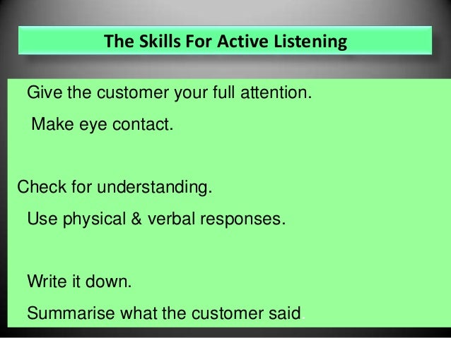 customer orientation skills