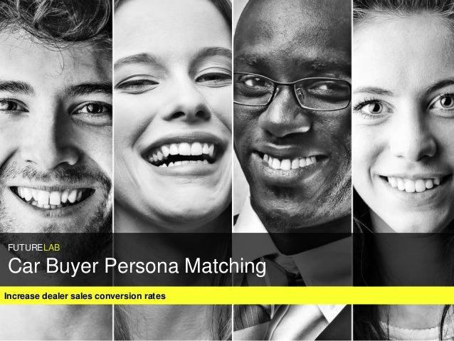 Increase dealer sales conversion rates FUTURELAB Car Buyer Persona Matching
