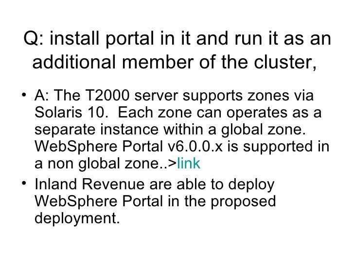 Sun Solaris Zones Websphere Portal Licensing