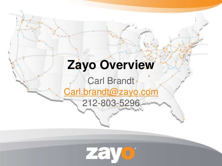 Zayo Group Overview