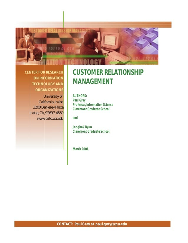 A research paper on customer relationship management