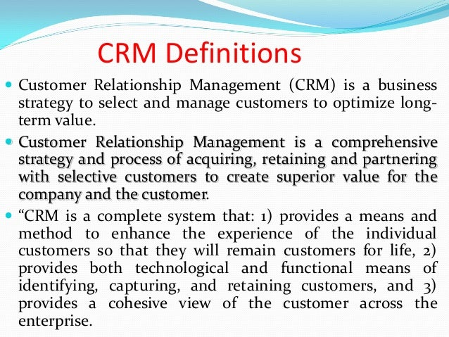 customer relationship process pdf