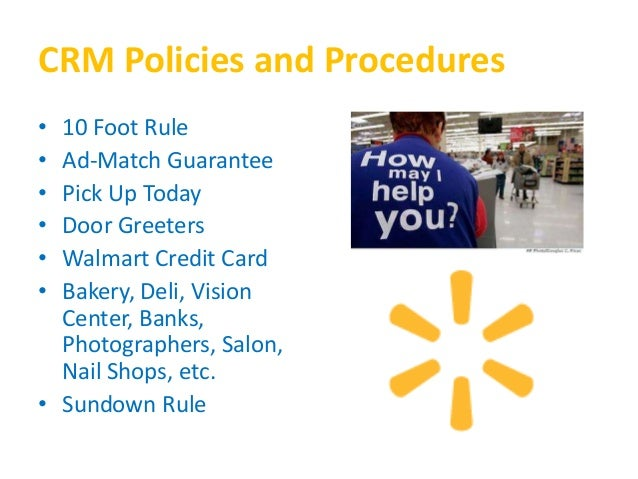 Crm Policies Comparing Walmart And Target