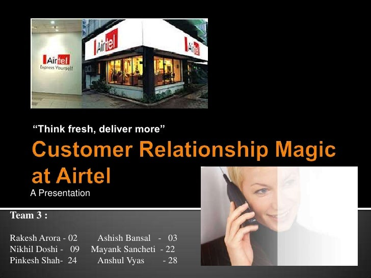 customer relationship management strategy of airtel