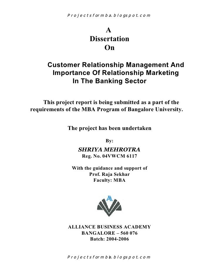 Customer relationship management in banks thesis