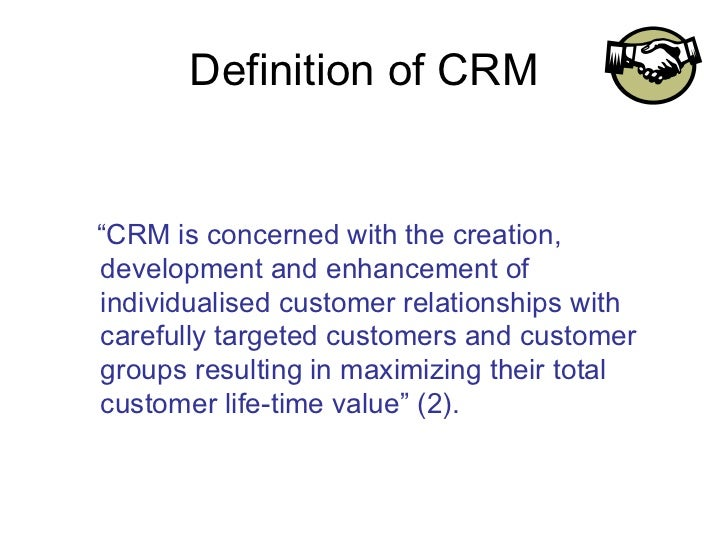 consumer relation management